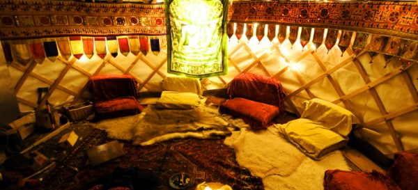 Inside the Yurt @ Hale Barns